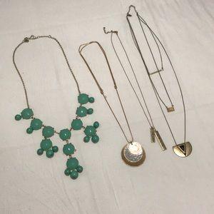 Lot of long necklaces J Crew Bohme